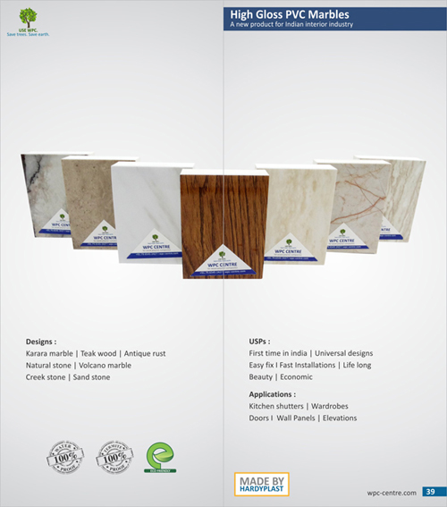 wpc marble and pvc gross marble sheet